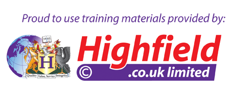 Proud to use training materials provided by Highfield.co.uk limited