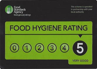 Food Hygiene Rating showing a good rating