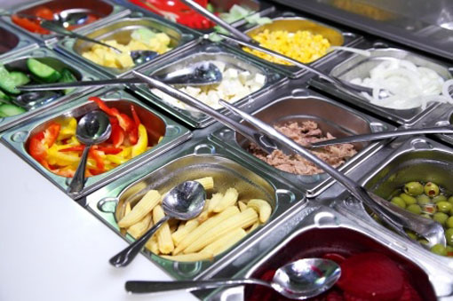 Pristine Salad bar exercising good Food safety practices